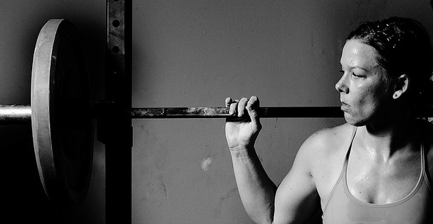 Are you willing to do the hard thing? Weight lifter Woman